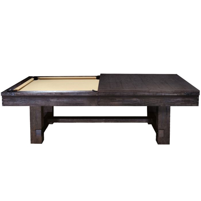 7 Pool Table Conversion Dining Top Dark Weathered Chestnut